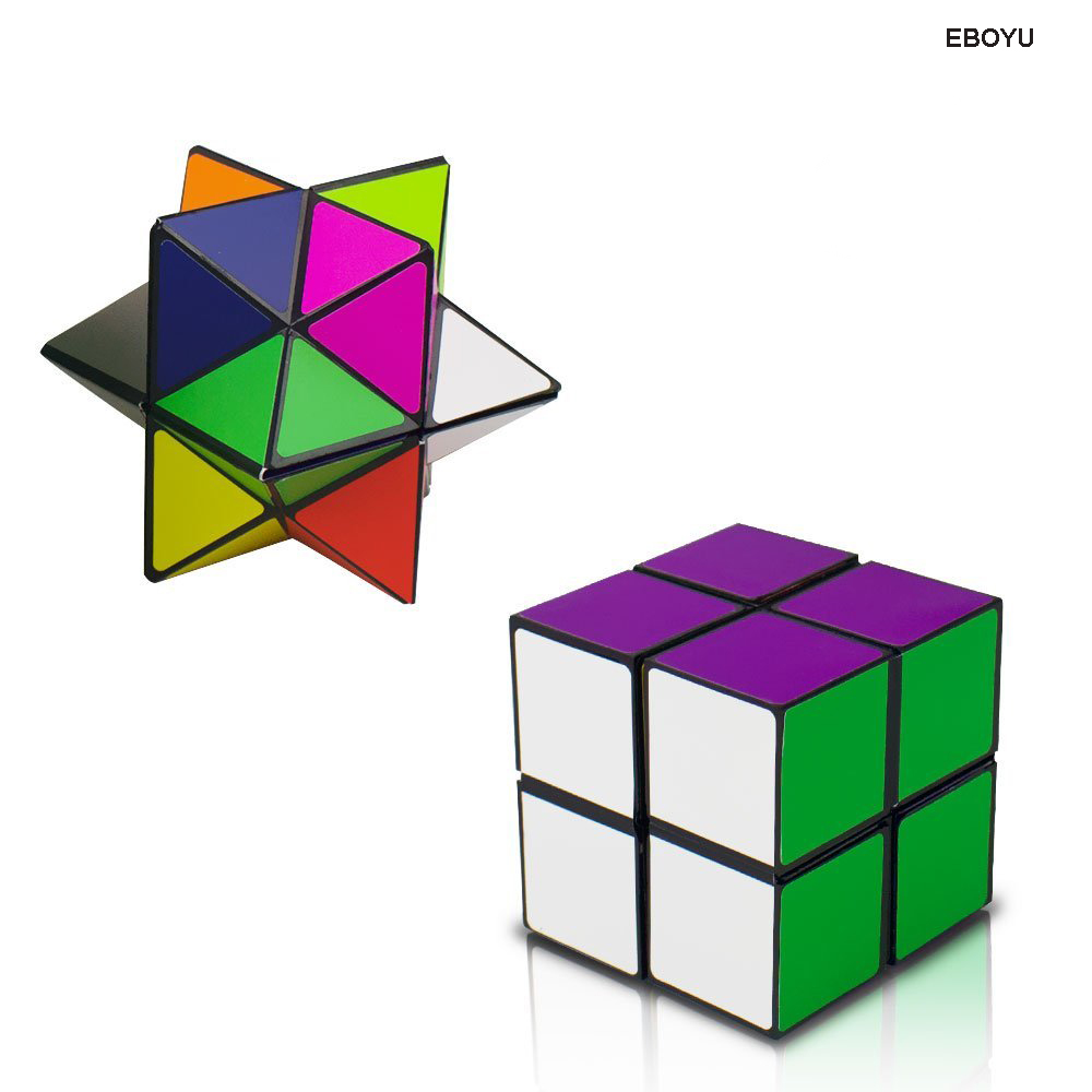 EBOYU Infinity Cube Toy Transforming Geometric Puzzle 3D Assembly Fidget Stress Anxiety Relief Magic Star Cube for Kids Adult ...