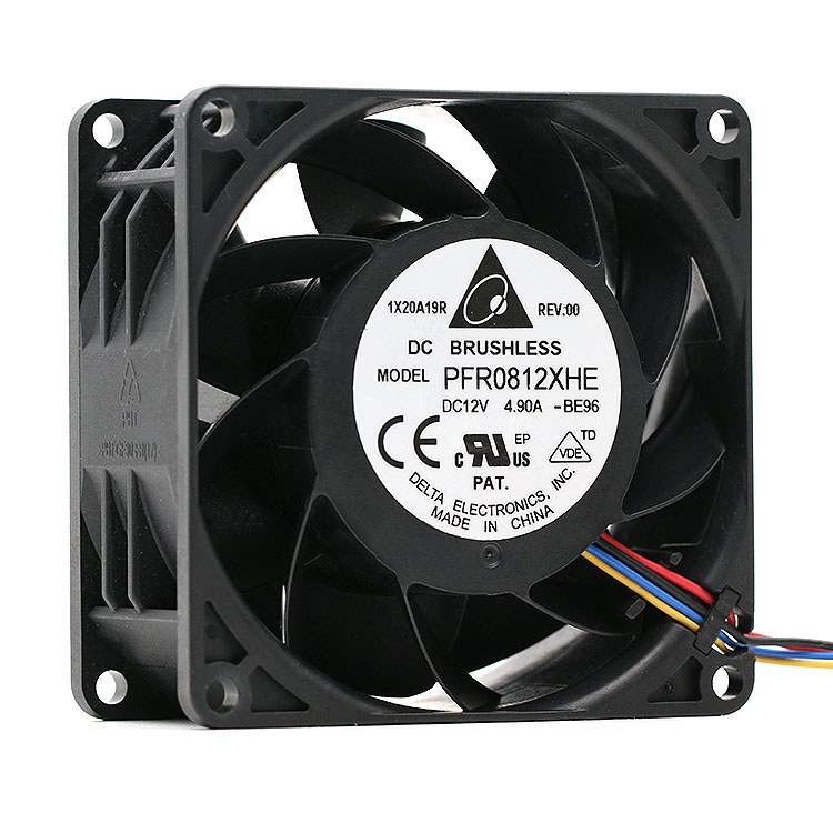 NEW IP55 (customized) Waterproof 80mm Fan For Delta 8038 PFR0812XHE 80*80*38mm DC12V 4.9A 13300RPM 140CFM 4-Pin
