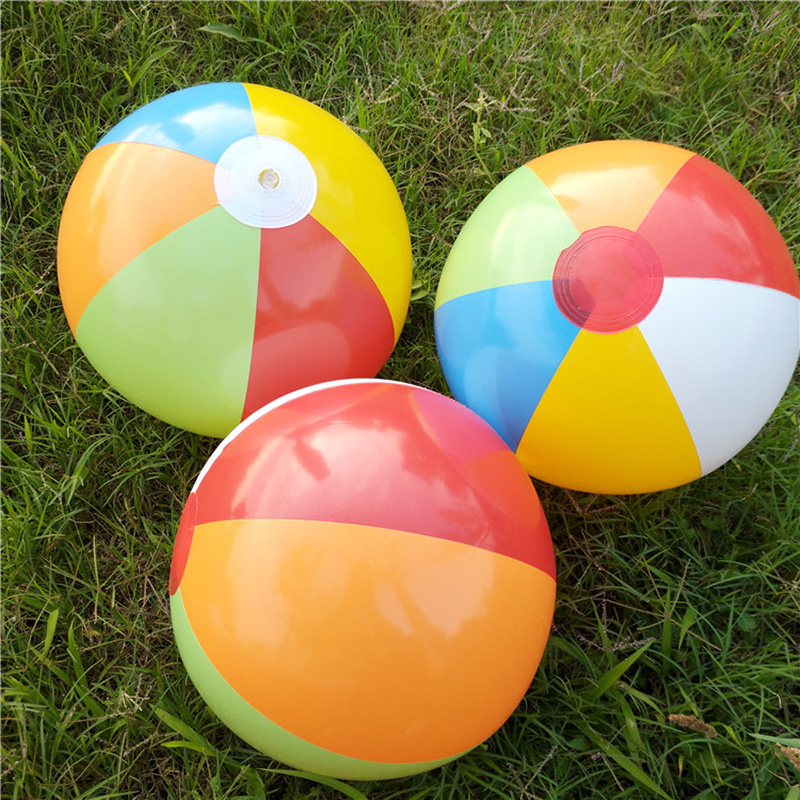 SLPF 23cm Color PVC New Inflatable Beach Ball Children Bathing Pool Play Water Toys Lawn Ball Kids Baby Outdoor Game Toy GiftG40