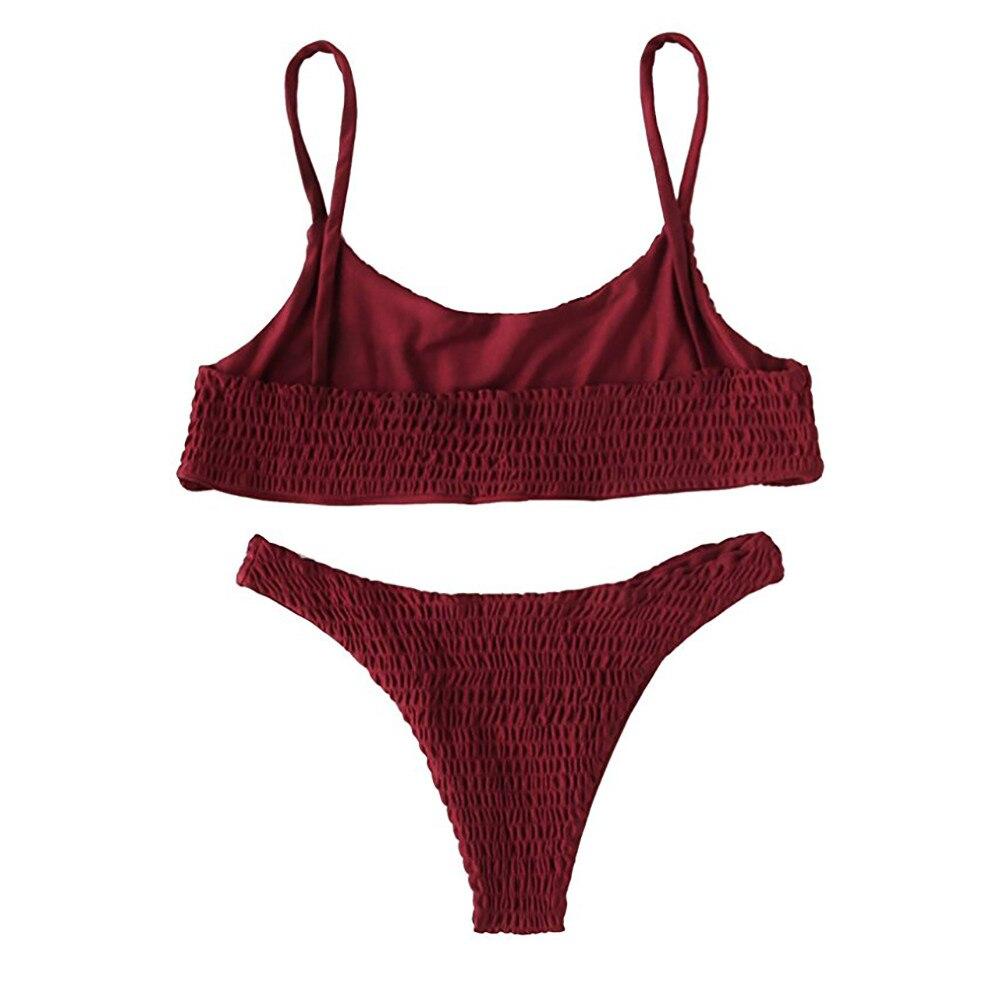 Swimsuit women Swimsuit bikini 2019 Women Bandage Push-up Padded Bra Bikini Set Swimsuit Swimwear Bathing female swimsuit fused-3
