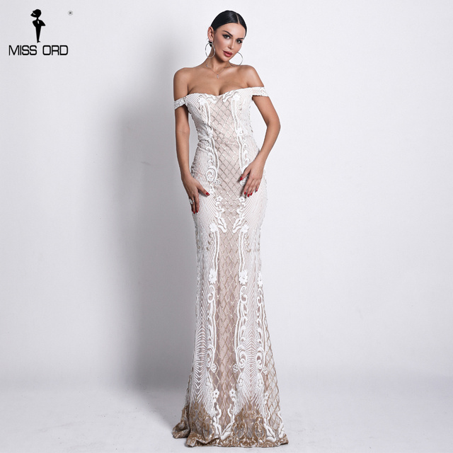 Missord 2019 Sexy One Shoulder Backless Sequin Dresses Female Elegant Retro geometry Party Bodycon Reflective Dress FT18623 1