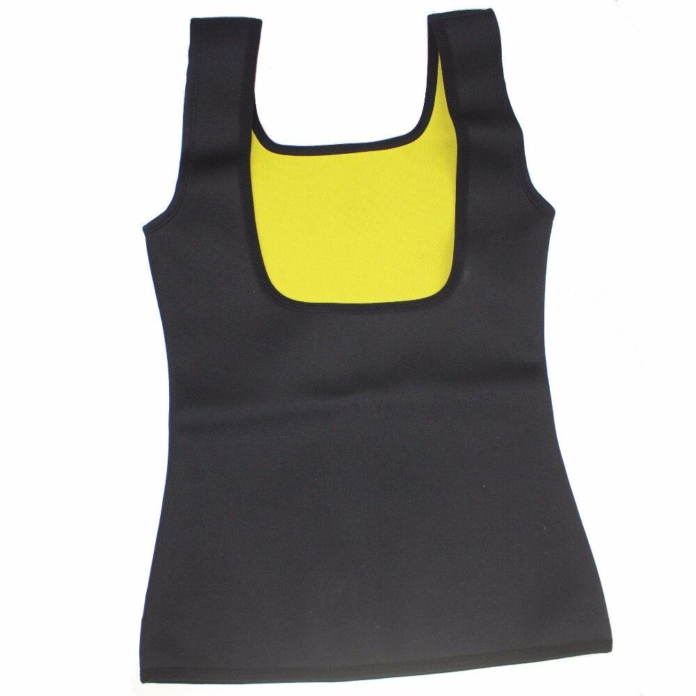 d3468ffb33ec4 Women s Hot Shapers Hot Sweat Slimming Neoprene Shirt Belly Fat Burner Body  Shaper for Women Sauna Vest Weight Loss Black S 3XL-in Tops from Underwear  ...
