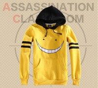 Anime Cosplay Costume Assassination Classroom Korosensei Cosplay Hoodie Coat Sweatshirts Free Track