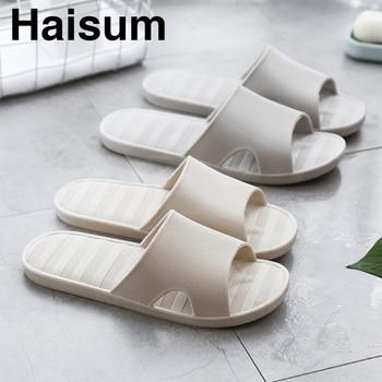 6d9374cf Men's Slippers Summer Home Shoes Non-slip Soft Bottom Striped Sandals  Bathroom Bath Slippers T00068