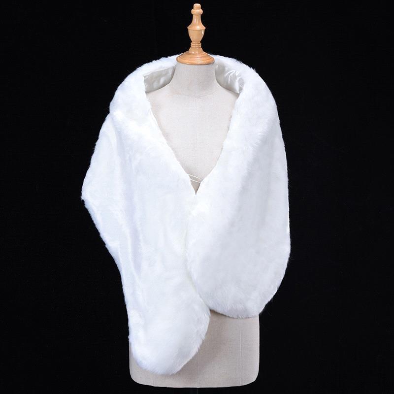 Winter Faux Fur Bolero Wraps Wedding Jackets Women Bridal Cape Female Shawl Evening Capes Short Bridal Wrap Wedding Accessories