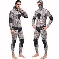 Sbart New Men 5mm Diving suit neoprene Freediving spearfishing wetsuit snorkel swimsuit Split Suits combinaison hat surf wetsuit