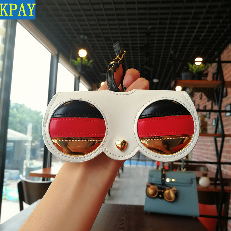 2019 New Fashion Animal Cartoon Women Portable Case PU Leather Sun Eye Glasses Box For Eyeglass Sunglasses Cute Protection Bag