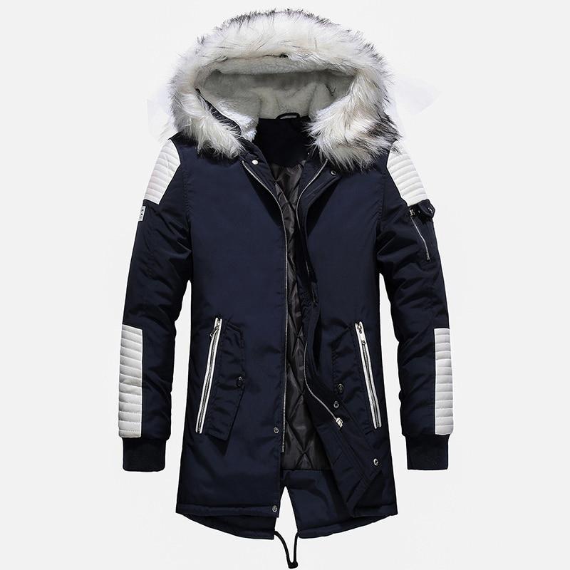 Aolamegs Fur Collar Winter Jacket Men Patchwork Thick Hooded Down Jacket Men Parkas Fashion Windproof Coat Mens Streetwear (16)
