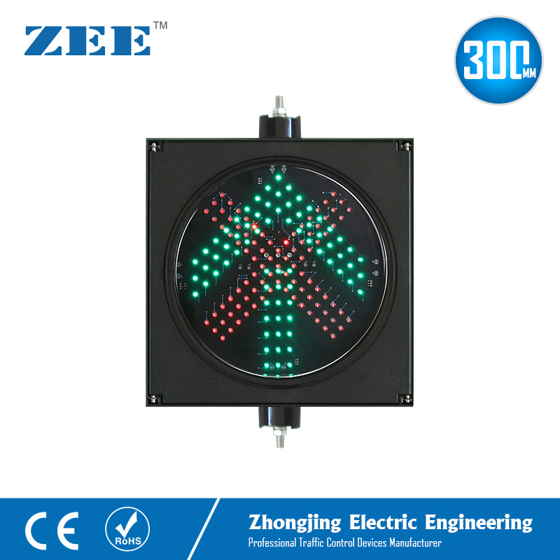12 Inches 300mm LED Traffic Light Parking Red Cross And Green Arrow Lot Toll Station Entrance And Exit Traffic Signal Light