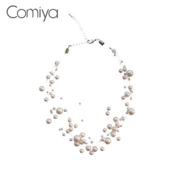 7189b239a78e Comiya collares elegantes para mujeres collar de perlas de Gargantilla  simuladas moda coreana Colar Feminino joyería de declaración Vintage