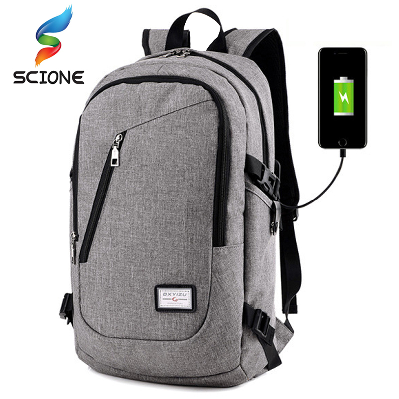 Hot Multifunction USB Charging Men 15inch Laptop Gym Backpacks For Teenager Fashion Male Travel Outdoor Sports Fitness Backpack