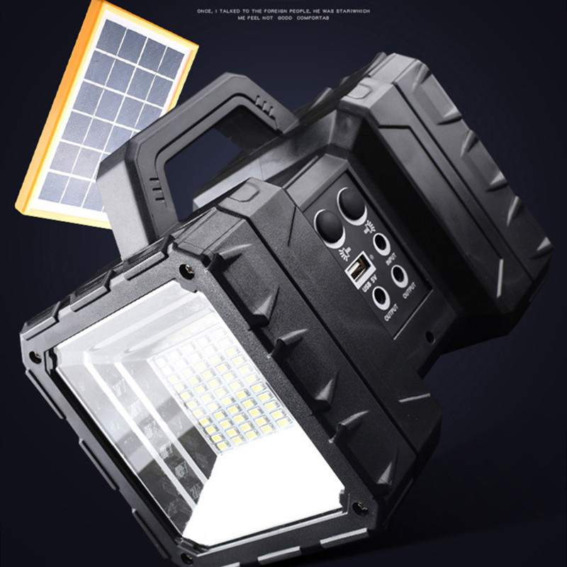 New Solar Charging Portable Light LED Camping Light Outdoor Multifunctional Camping Light