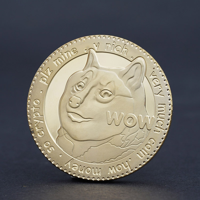 Gold Silver Plated Coins Animal Dog Coin To The Mooni Doge Coins BTC553