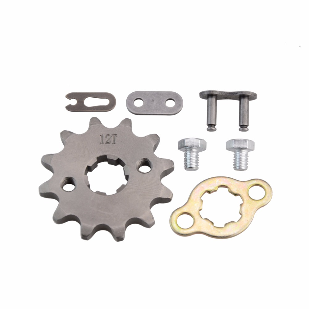GOOFIT 17mm Front Sprocket 420-12T/428-12T for Motorcycle ATV Dirt bike Q001-032