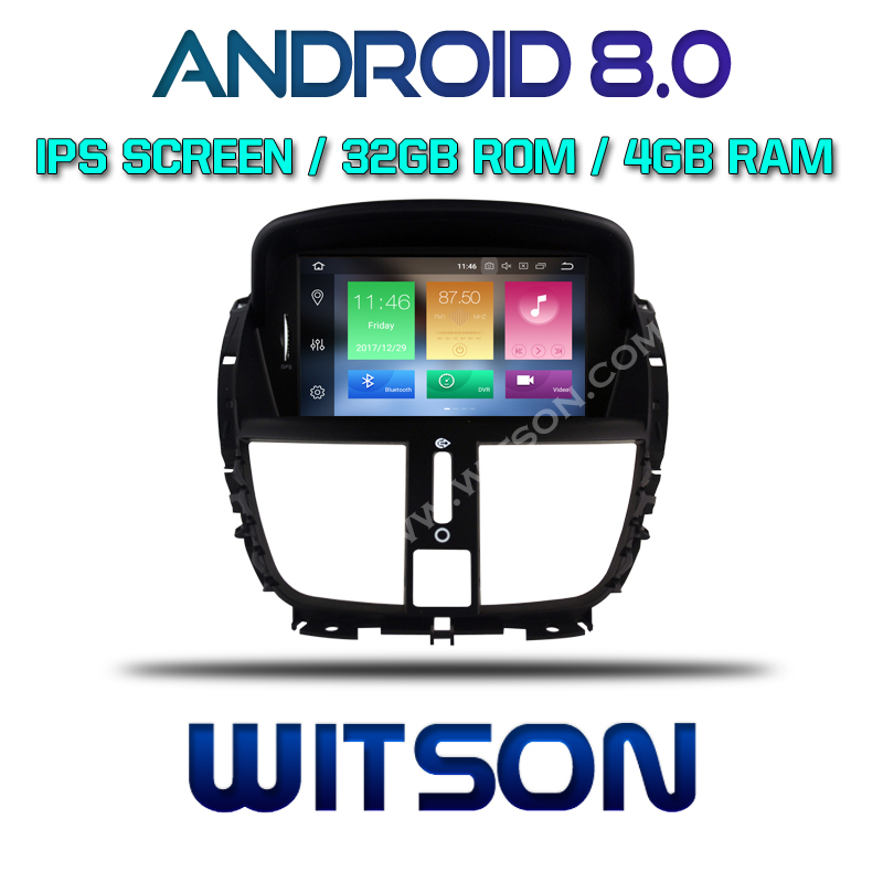 WITSON Android 8.0 Octa- core (Eight-core) 4G RAM CAR DVD GPS For PEUGEOT 207/207CC 2007-2014  audio car system car audio gps