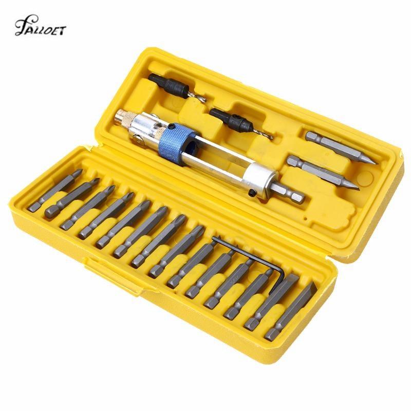 Multi 20 in 1 Präzisions-schraubendreher-bit Gesetzt Kopf Joint 16 Verschiedene Kopf mit Senker Schlüssel Bits für Schraubendreher