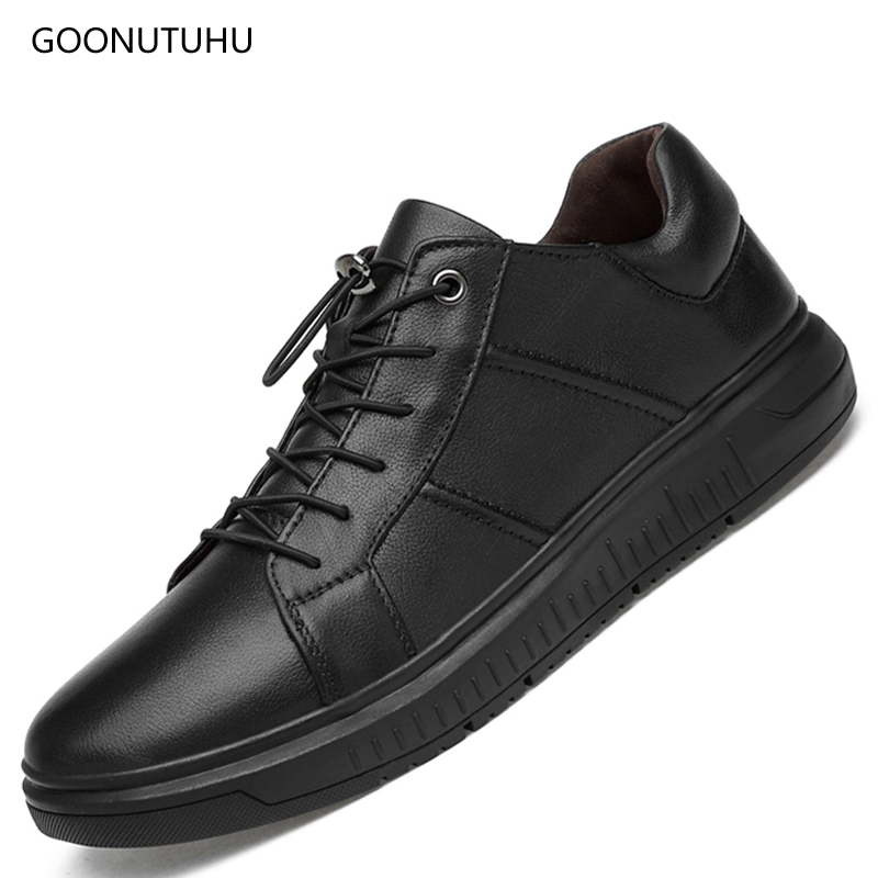 Casuais Respirável Sapato Preta 44 Plataforma Genuína Slip on Tamanho Masculino De Homem Vaca Para Couro Homens Moda Black Da Sapatos Mocassins 38 wY7xaqt4