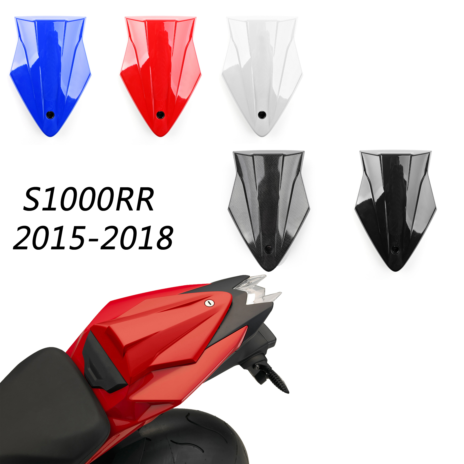 Areyourshop Passenger Rear Seat Cowl Cover For BMW S1000RR K46 2015-2018 Motor Seat Cover