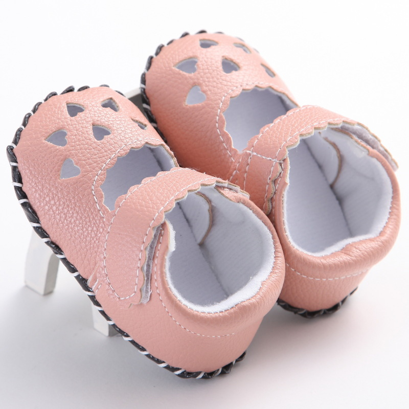 Raise Young PU Leather Newborn Baby Girl First Walkers Brand Heart-shaped Hollow Infant Girl Shoes Toddler Summer Footwear