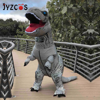 JYZCOS Adult Night Walker T Rex Dinosaur Inflatable Costumes Carnival Purim Halloween Cosplay Clothes Party Fancy Dress Costume
