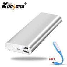 KUCHONG Metal 12000 mAh Power Bank Saída 2 USB Carregador Portátil de Backup Bateria Externa Para Todos Celular Transporte Rápido