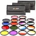 К & F КОНЦЕПЦИЯ 18 шт. Полный Цветовой Фильтр Kit + Окончил Комплект Фильтров для Nikon D5300 D5200 D5100 D3100 DSLR Камеры + Фильтр-Мешок