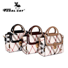 FERAL CAT Women Messenger Bags Crossbody BagsTop-Handle Bolsa PVC Leather Handbags Designer Soft Shoulder For