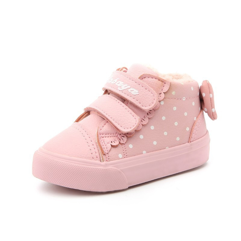 Image 5 - Children Shoes Girl 2018 Winter New Increase Down Thickening Casual Shoes Protect Warm Winter Snowfield Cotton Boots-in Sneakers from Mother & Kids