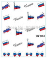 HOTSALE 20sheet/LOT Russia Flag World Cup WATER DECAL NAIL ART Accessories Football Serie Nail Tattoo,22  Different design
