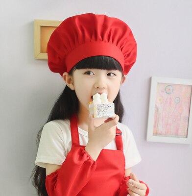 New Childrens Chef Hatapron Cute Baby Boys Kitchen Work Caps