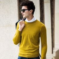 merino 100% pure wool Sweater 2019 New Fashion Brand Sweater Mens Pullover Slim Fit Jumpers Knitred Woolen Autumn Casual Men