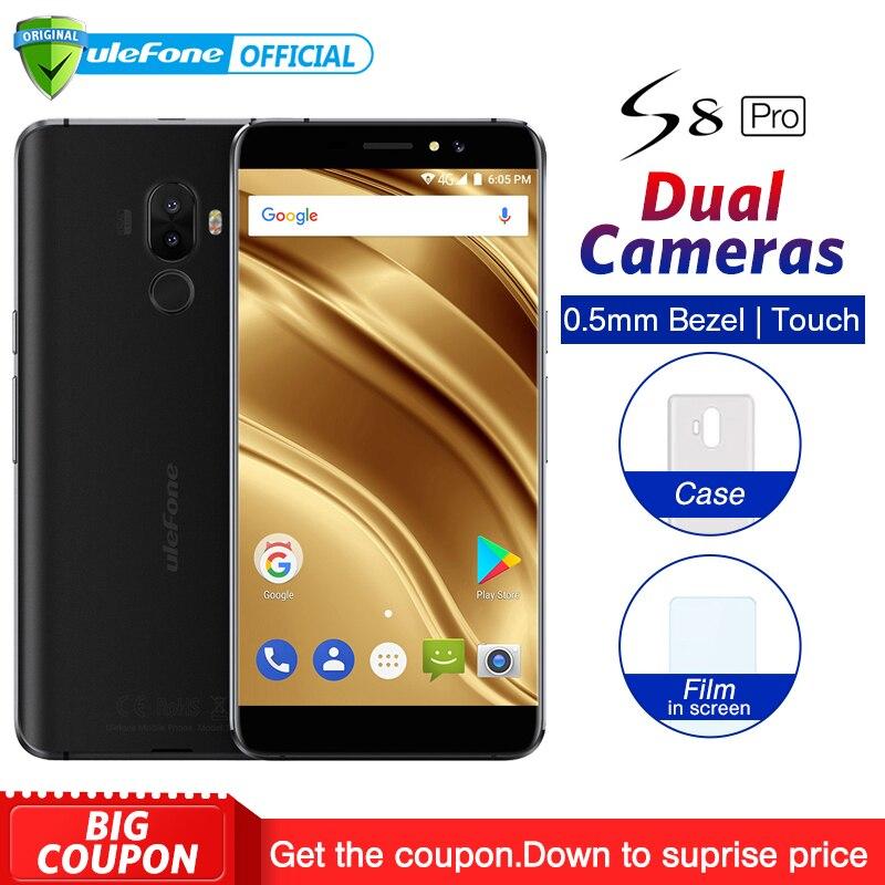 Ulefone S8 Pro podwójne tylne kamery telefonu komórkowego z systemem Android 7.0 5.3 cal HD MTK6737 Quad Core 2GB + 16GB 13MP linii papilarnych 4G Smartphone w Telefony Komórkowe od Telefony komórkowe i telekomunikacja na AliExpress - 11.11_Double 11Singles' Day 1