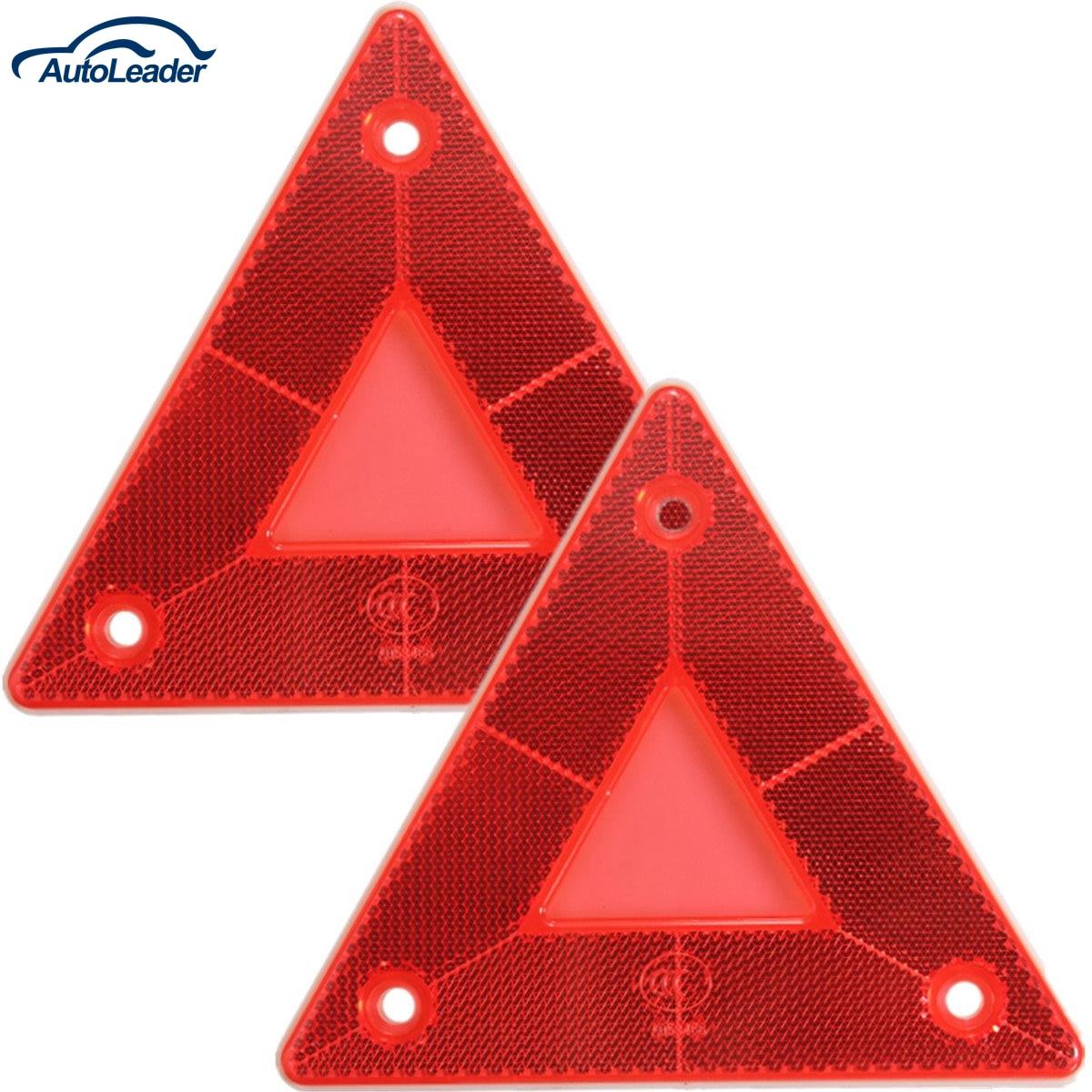 2Pcs Rear <font><b>Light</b></font> Car <font><b>Truck</b></font> Trailer Fire Triangle Reflector Safty Warning Board