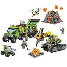 10641 Bela City Series Volcano Exploration Base Geological Prospecting Building Block Bricks Toys Compatible with Legoe 60124