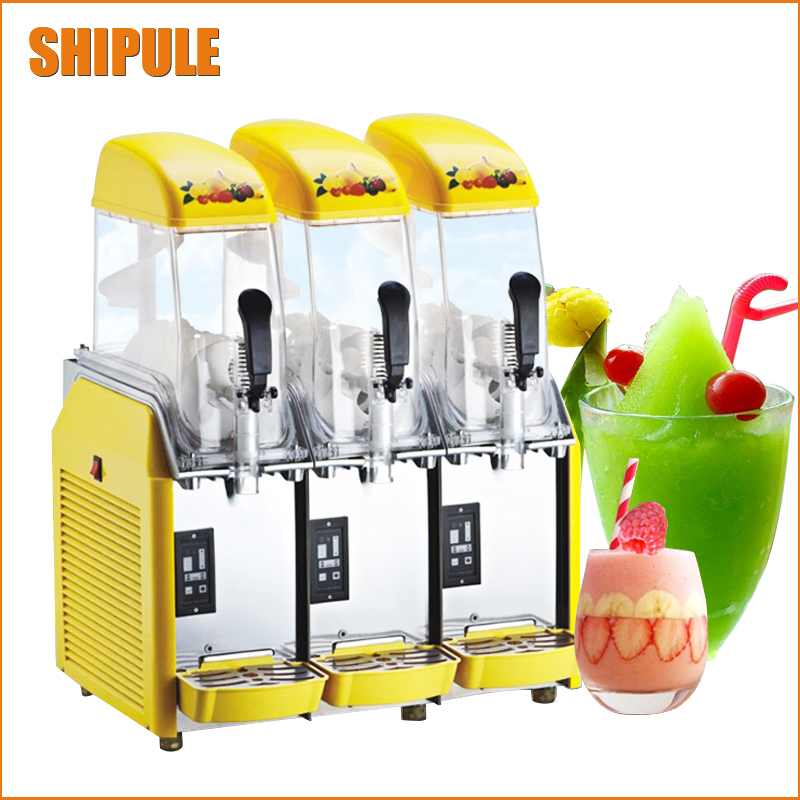 Free DHL 1pc 110V/220V Snow Melting machine/Three Tank Slush Machine/Cold Drink Maker/Smoothies Granita Machine/Sand ice machine