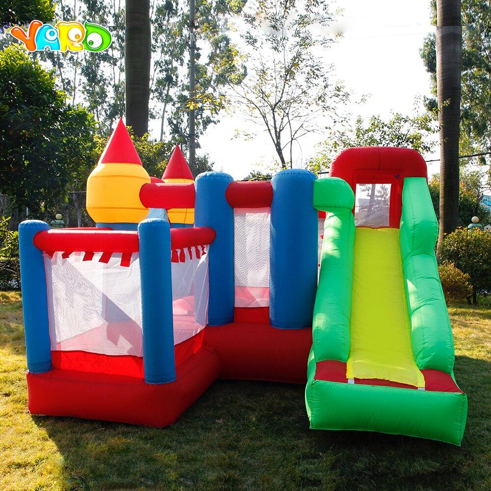 YARD 3*3*2.1 m Gonfiabili per bambini Giochi di Casa Salto Castello Scivolo Ventilatore Bambini All'aperto Castello Gonfiabile Nave Da espresso Di Natale