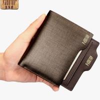Pabojoe Mens Leather Wallet Purse Bifold Card Case Money Holder For Gift