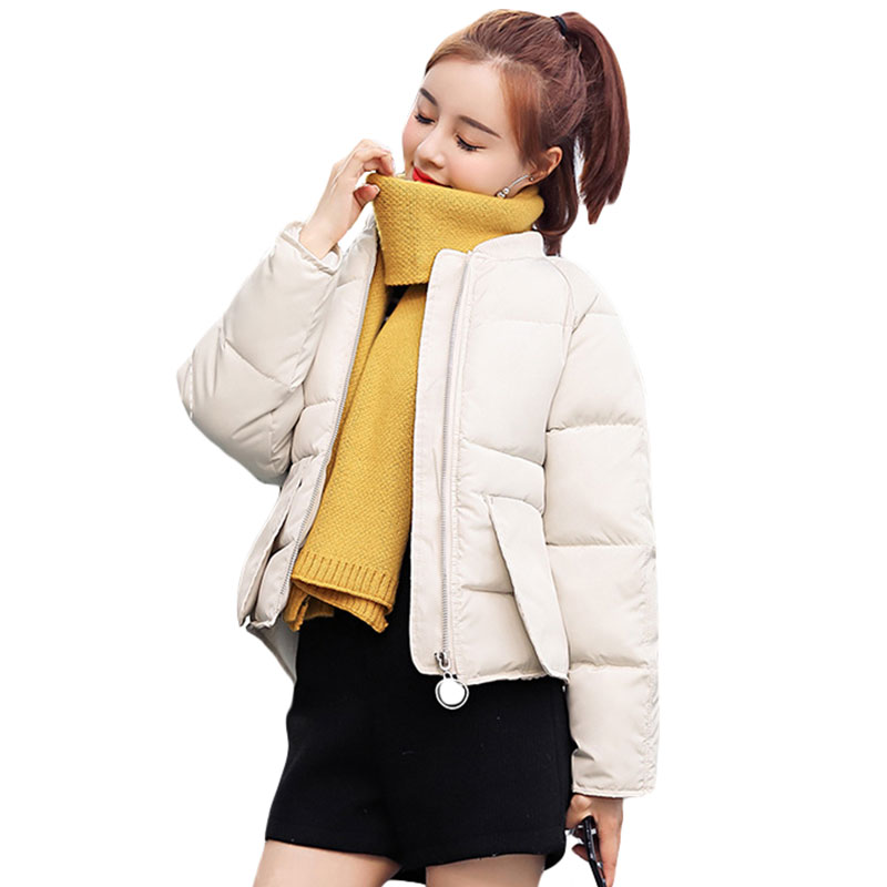 Fashion Thick Down Cotton Padded Jacket Short Bread Coat Women's Clothing Women's Winter Jacket Coat Female Down   Parkas   2019 New