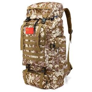 Image 3 - 70L 大容量のバックパック防水ナイロン軍事戦術 Molle 陸軍バッグ男性リュックサックハイキング旅行バックパック