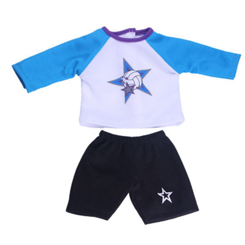 18 Inch American Girl Doll Clothes Outdoor Sports Fashionable Football Soccer Uniform Children DIY Dressed Toys Christmas Gifts