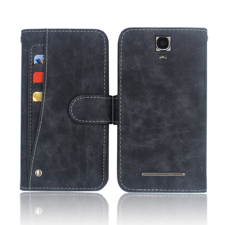 Hot! DEXP Ixion ES850 Case High quality flip leather phone bag cover case for with Front slide card slot