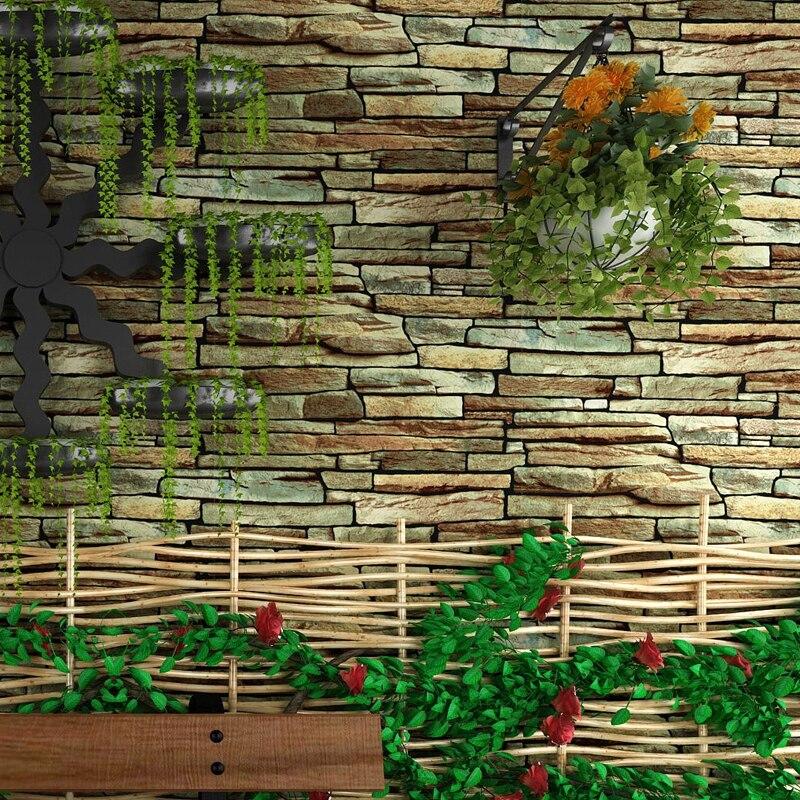 Vintage rustique 3D effet pierre brique papier peint rouleau pour murs salon papier peint pour chambre TV fond Papel De Parede 3DVintage rustique 3D effet pierre brique papier peint rouleau pour murs salon papier peint pour chambre TV fond Papel De Parede 3D