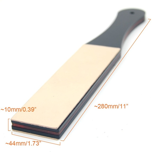 Barber Leather Sharpening Strop Men Straight Shaving Razor Knife Belt Strap Kitchen 2 Sides Sharpener DIY Polishing Board Tool