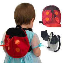 New Kids Fashion Animal Child School Batman Bag Anti Lost Small Ladybug Backpack Travel Women bag(China)