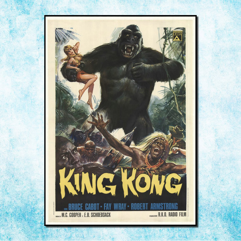 kong Skull Island King kong New Movie Art Silk Poster