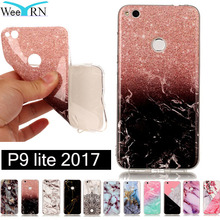 Huawei P9 lite 2017 Cases Marble Style Stone Drawing Case Cover Silicon Soft TPU Mobile Phone Cover Huawei P9 lite 2017 Coque