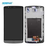 100 Test Grey For LG G3 D855 D850 LCD Display Touch Screen Digitizer Full Assembly Replacement