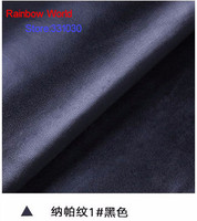 1 Black High Quality Nappa Stripes Vein Grain PU Leather Fabric For DIY Sofa Bed Shoes