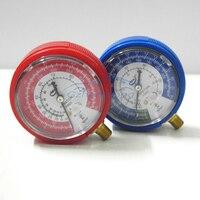 2 pçs/lote Carro Ar Condicionado de Alta e Baixa Pressão Calibre Refrigerante R12 R134A HVAC