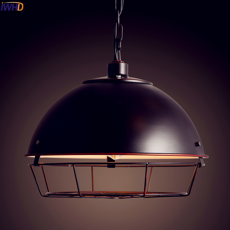 IWHD American Vintage Industrial Lighting Dinning Room Retro Loft Lamp Edison Pendant Light Fixtures LED Lampara Colgante iwhd 60w retro loft style vintage lamp industrial pendant lighting with metal lampshade edison lampara colgante
